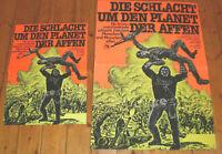 2 x  Filmplakate,Plakate,DIE SCHLACHT UM DEN PLANET DER AFFEN,J.Thompson ,Sci-Fi