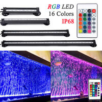 Multi-color RGB LED Air Bubble Curtain Submersible Light for Fish Tank Aquarium