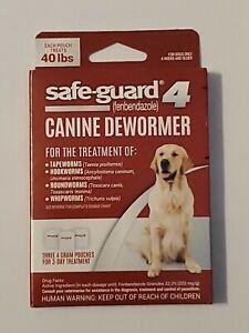 Safe-Guard 4 Canine Dewormer Dog Roundworm Hookworm Tapeworm Whipworm SafeGuard