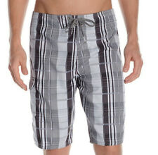E694 - O'Neill Santa Cruz Plaid Board Shorts - NWT Mens 40 Grey / Multi - #29515