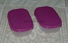 TUPPERWARE MINI SHALLOW FREEZERMATES FREEZER MATE MINI SET/2 PURPLE PURPLICIOUS