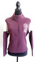Victoria's Secret Women's Pink Purple Half Zip Pullover Sweater Size Small