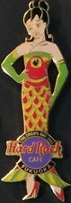 Hard Rock Cafe FUKUOKA 2002 CHILDREN'S DAY PIN Sexy Girl in Fish Dress HR #12481