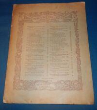 "Large Vintage 1883 Sheet Music ""Danse Des Fees"" The Fairies' Dance A Jaell Piano"