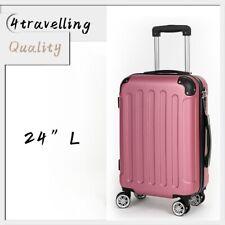 B Waren Koffer Hartschalenkoffer Reisekoffer Trolley 4 Rollen A13 Größe L Rosa