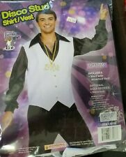 Disco Stud 70s Music Dance Costume Halloween Adult Men One Size Up to 42 Chest