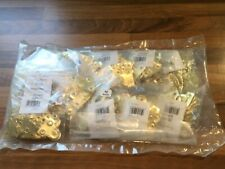10 x Bags of Glass Plates Plain Brass Plated 32mm 50pcs per bag