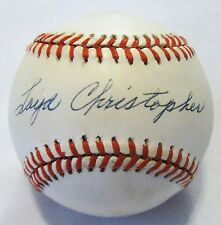 Loyd Christopher dec.91 PSA/DNA Cubs Red Sox Authentic Autographed Baseball