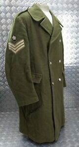 Genuine British Army RHG 1st Dragoons Regiment Staff Sergeant Rank Greatcoat