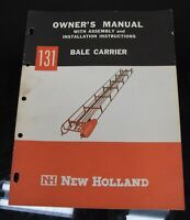 New Holland Bale Carrier 131 Owner's Operator's Manual