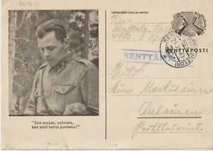 1941 FINLAND MILITARY POSTAL STATIONERY FOR THE TROOPS CARELIA OPERATION AREA