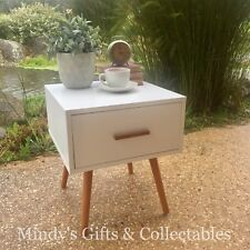 Danish Scandinavian Style SideTable Bedside Table 1 Drawer Timber Legs RRP $189