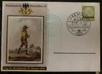 1941 Luxembourg Germany Postal Stationary Postcard FDC Philatelic Exhibition