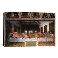 "iCanvasART 3-Piece The Last Supper Leonardo Da Vinci Canvas Art Print, 60 by 40"""