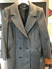 Alorna Wool Blend Double Breasted Grey Coat Size L