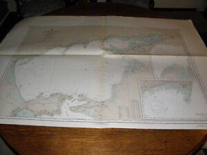 Antique Vintage US Navy Nautical Chart , BLACK SEA-U.S.S.R AZOVSKOYE MORE