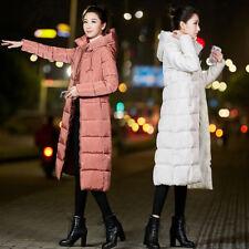 NUOVO Donna Superdry invernale rosa lunga spessa Giù cotone cappotto con cappuccio caldo Outwear Jacket