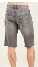 True Religion Geno Big T Charcoal Men Shorts Size 32