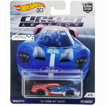 New Hot Wheels Circut Legends 16 Ford Gt Race 4/5 Real Riders