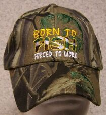 Embroidered Baseball Cap Fishing Born to Fish NEW 1 hat size fit all
