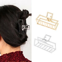 2PC Large Hair Claw Clips Metal Strong Holding Hair Grip Pin Ponytail Holder