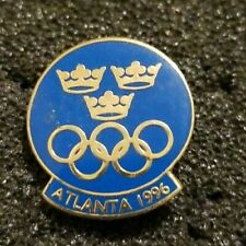 NOC Sweden Olympic Committee for Olympic Games Atlanta 1996 Hat Lapel Pin