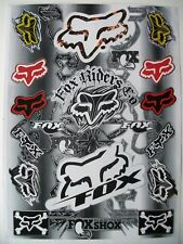 Fox Motocross Enduro Motorcycle Skate Board Bmx Decals Sticker Graphics Kit Mtb