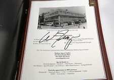 Madison Square Garden - 75 Years College Hoops signed by Walt Frazier