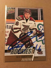 Nick Robertson SIGNED 17/18 UPPER DECK CHL STAR ROOKIE card TORONTO MAPLE LEAFS