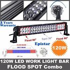 120W 20INCH LED Work Light Bar Spot Flood For Driving ATV UTE SUV Offroad 4WD