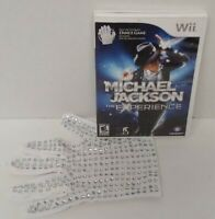 Michael Jackson: The Experience w/ Glove Nintendo Wii Wii U Game Working  Tested