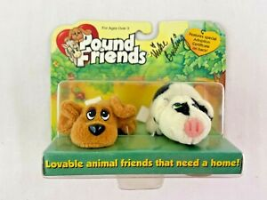 Pound Friends Puppies Dog Pig Signed Mike Bowling Galoob Toy Plush Collect