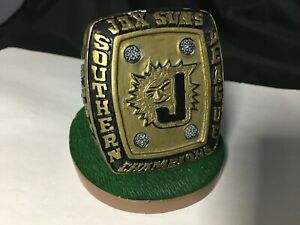 JACKSONVILLE FLORIDA SUNS SOUTHERN CHAMPIONS BASEBALL RING TROPHY PAPERWEIGHT