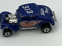 MATCHBOX HOT ROD 1982 WHITE HEAT 313  WILLIS STREEY ROD Blue Car Vintage Toy