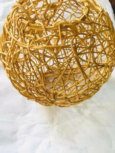 Cane Bulb Light Shade Round Cover Ceylon Handmade Eco Friendly FREE Shipping