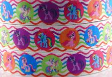 5yds 7/8'' (22mm) my little pony printed grosgrain ribbon Hair bow diy Y582
