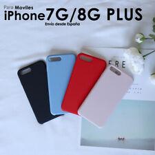 Funda de Silicona Liquida para iPhone 7 8 Plus Calidad Suave Forro Microfibra