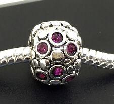 JS367 C10  Silver clip stopper charms bead Fit European Bracelet Chain