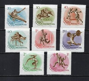 Hungary 1160-7 Mint Olympic Set (Perf & Imperf) VFNHLH, CV $79 (2012), see desc.