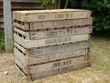 4 Potato Chitting Trays / Vintage Wooden Boxes / Bushel Box / Old Storage Boxes