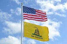 LOT 2' X 3' U.S.  AMERICAN & US  GADSDEN DONT TREAD ON ME TEA PARTY  FLAG 2X3