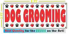 DOG GROOMING Banner Sign NEW Larger Size DOGS CATS Large Animal 4 Truck Van Shop