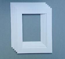 8 x 8 pollici Bianco Mounts per adattarsi 5 x 5 PHOTO & Fotografia - 5 pack