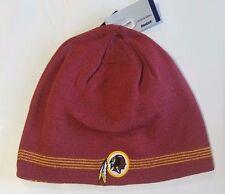 Washington Redskins Knit Beanie Winter Hat Toque Skull Cap NEW 4 thin stripe REV