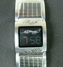 Womens ED HARDY Digital Watch 18-NE 0251 with Steel Link Band - NOS
