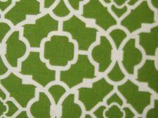 Citron Green Waverly Lovely Lattice Wave Valance  50 x 16L NIP Geometric