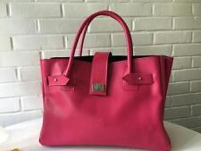 SATAYA Handmade designer handbag tote bag computer bag pink leather commuter bag