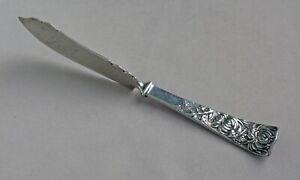 "Shiebler ""Chrysanthemum"" Sterling Silver Master Butter Knife c.1885;L179"