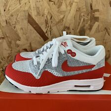 sneakers for cheap 539ec a2b16 Nike Donna Air Max 1 Ultra Flyknit - Bianco University Rosso   Puro con  Zeppa
