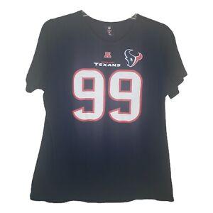 Houston Texans Womens T-Shirt 99 JJ Watt Navy Blue NFL Team Apparel 2XL